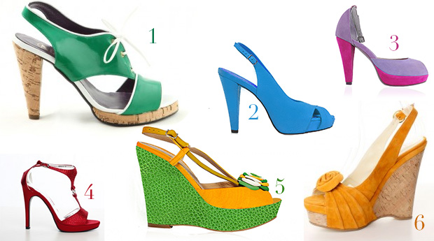 Sandale de vara 2011 - culori in tendinte