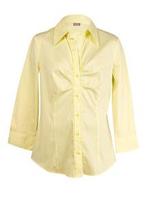 Camasa cu dungi, galben cu alb