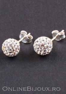 Cercei din argint, design italian, pietre Swarovski