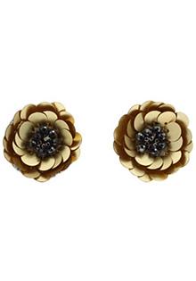 Cercei din aur model floare