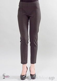 Pantaloni conici gri cu dunga la Fashion UP