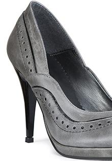 Pantofi gri din piele