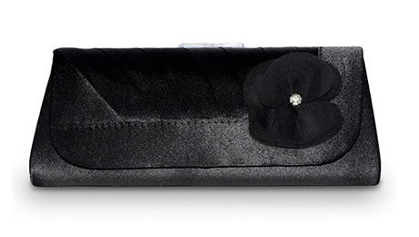 Plic negru cu aplicatie florala