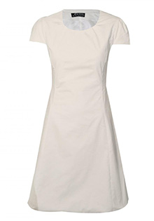 Rochie alba din raiat fin