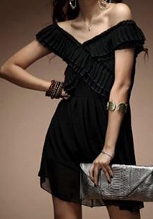 Rochie neagra chiffon