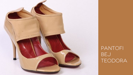 Pantofi bej Teodora