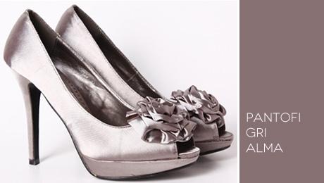 Pantofi gri Alma