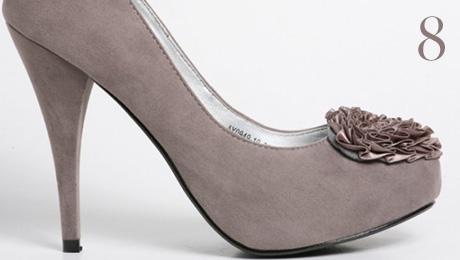 Pantofi gri Lexy la Fashionshoes