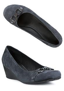 Pantofi gri din piele intoarsa