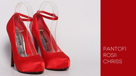 Pantofi rosii Chriss