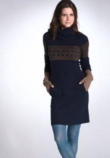 Rochie pulover jacquard