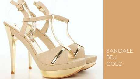 Sandale bej Gold