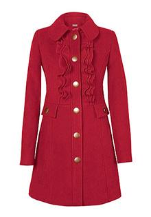 Palton cu volane de la Ama Fashion