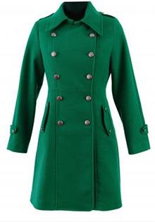 Palton verde la 24Shop