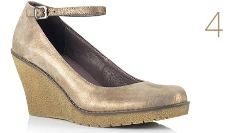 Pantofi piele metalizata