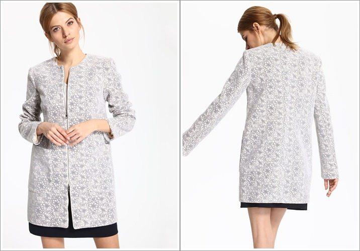 Palton Top Secret scurt alb