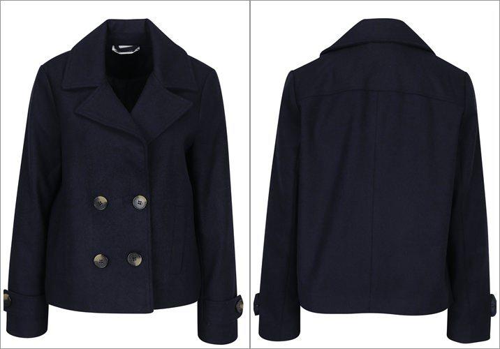 Palton scurt bleumarin cu nasturi Noisy May