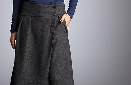 Fusta pantalon din flanel