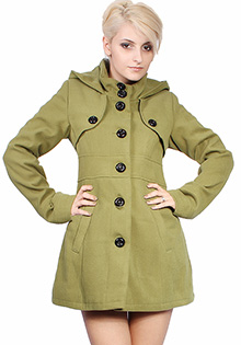Paltoane colorate: Verde Oliv