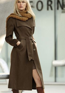 Paltoane lungi: Model elegant