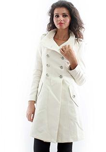 Paltoane lungi: Palton alb
