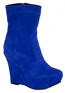 Botine albastre Glamour by A.T.