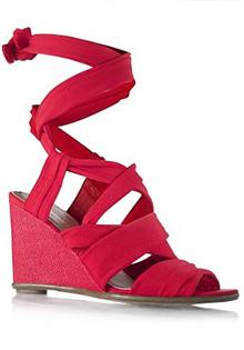 Sandale rosii compensate
