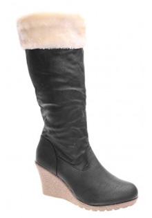 Cizme negre Misha la Fashionshoes