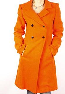 Palton portocaliu Monique Fashion Donna