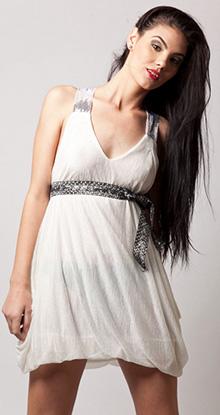 White Crystall Dress