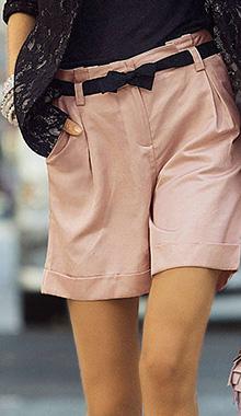 Pantaloni scurti roz vintage