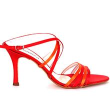 Sandale ZODIACO rosii cu toc