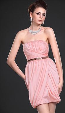 Rochie de nunta matase roz deschis