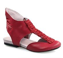 Sandale din piele naturala rosie