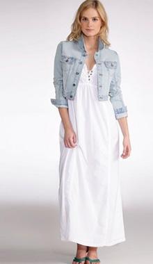 Rochie lunga cu bretele reglabile