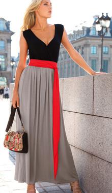 Rochie lunga in trei culori