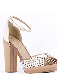 Sandale Epica cu toc gros si perforatii