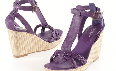 Sandale cu platforma tip rafie