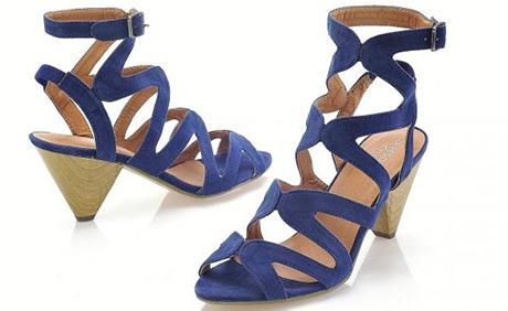 Sandale din piele intoarsa sintetica