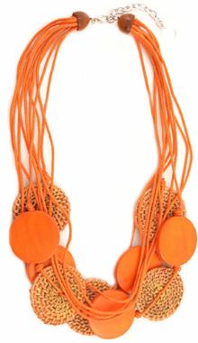 Colier Maxi Orange Meli Melo