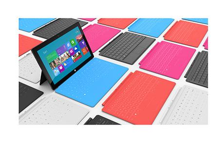 Microsoft Surface color keyboard