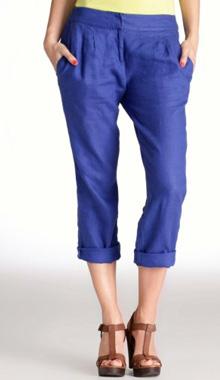 Pantaloni albastri 3 sferturi