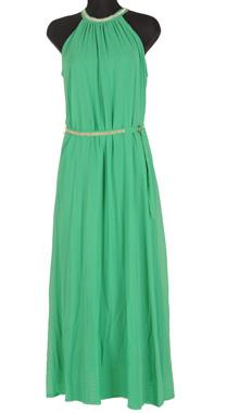 Rochie maxi verde cu banda in talie