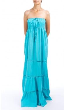 Rochie maxi albastra bust elastic