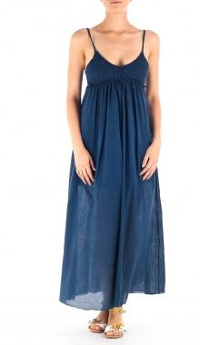 Rochie maxi bleumarin cupe crosetate