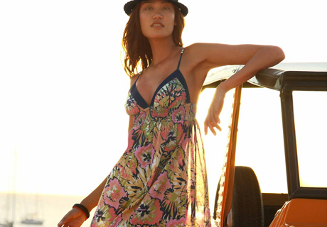 Rochie maxi colorata cu bretele subtiri