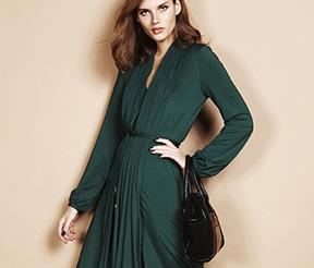 Rochie drapata verde