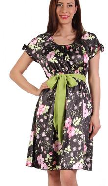 Rochie florala cu cordon