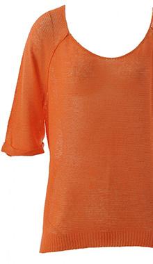 Pulover portocaliu subtire