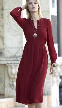 Rochie de toamna cu maneci lungi